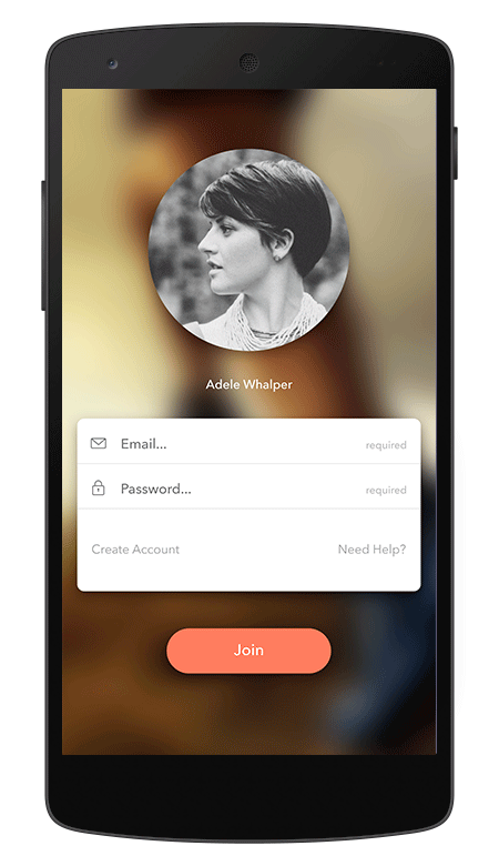 muvone app login screen