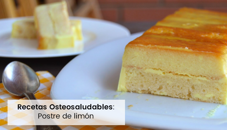 pudding de limón